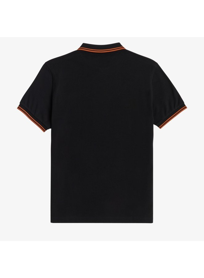 Twin tipped fred perry shirt-black/rust