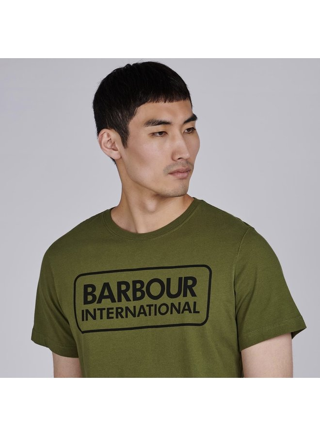 Essential large logo tee-vintage green