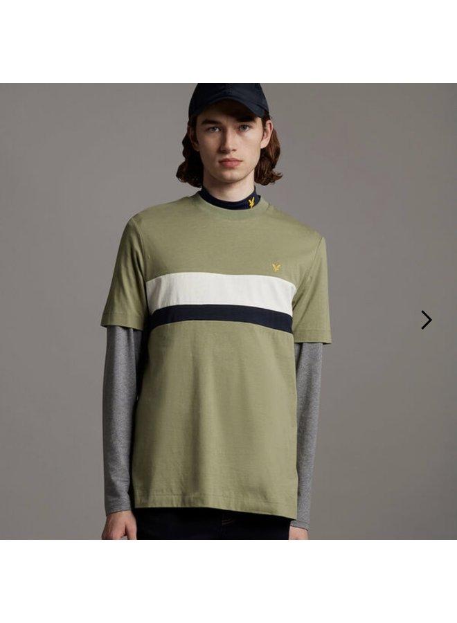 Cut and sew t-shirt / moss