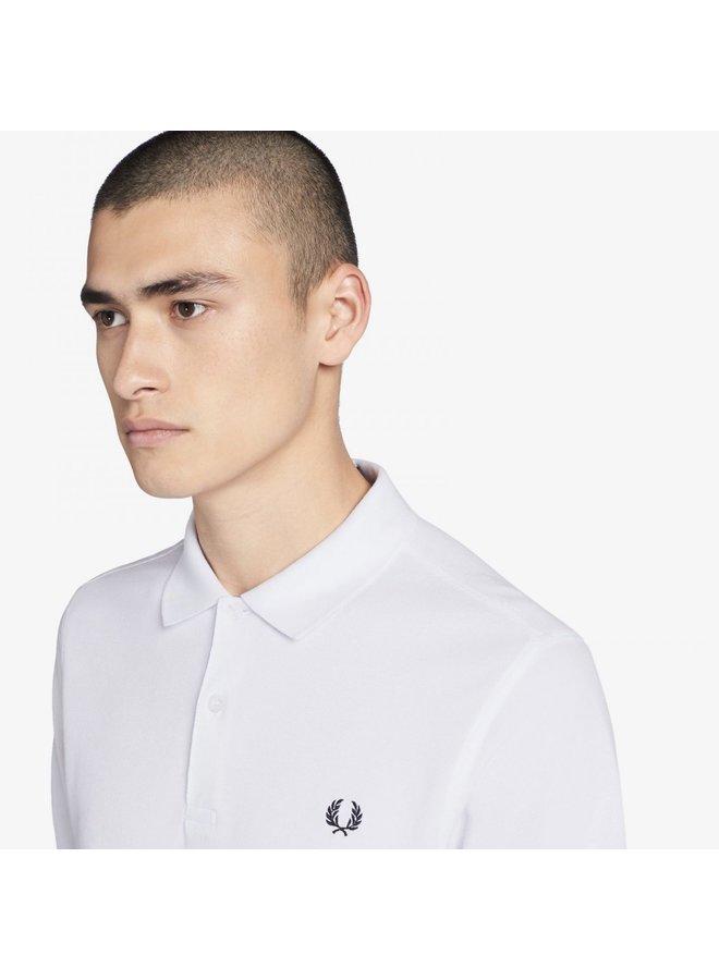 Plain fred perry shirt - white
