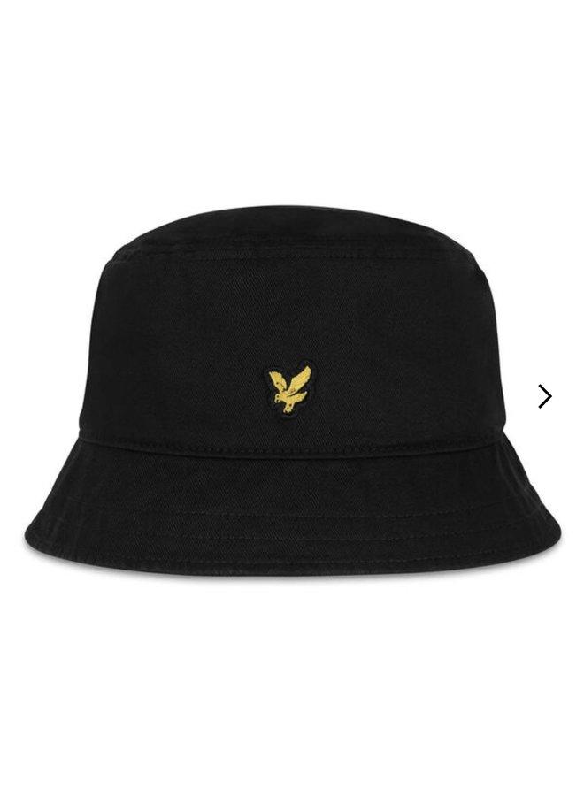 Cotton twill bucket hat - true black