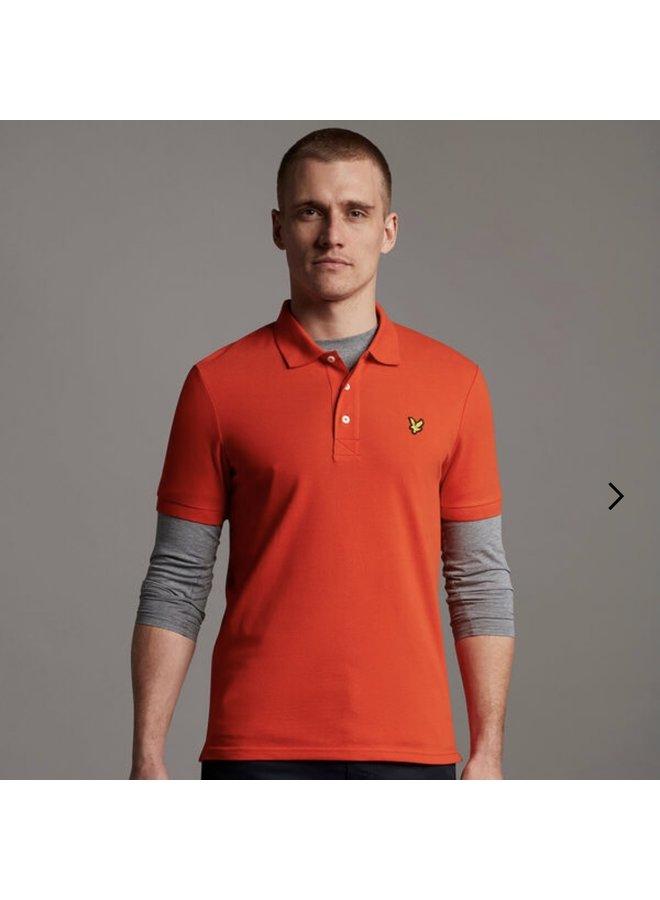 Plain polo shirt burnt orange