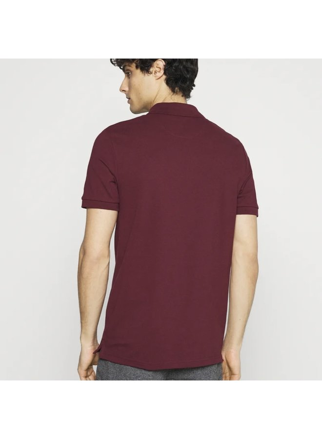 Plain polo shirt merlot