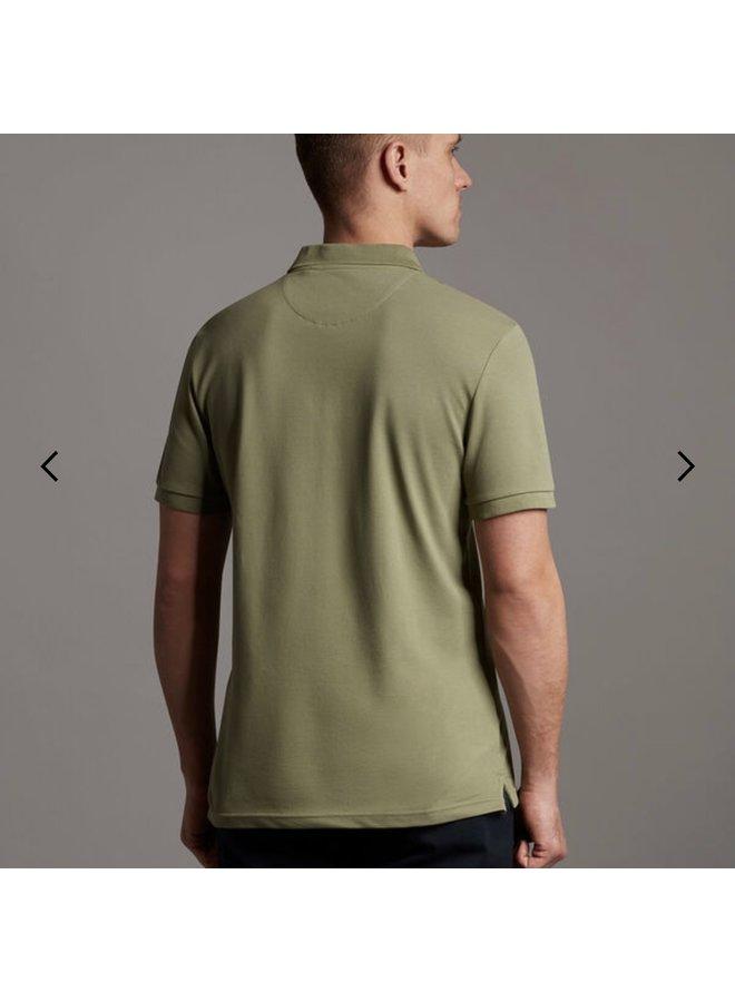 Plain polo shirt moss