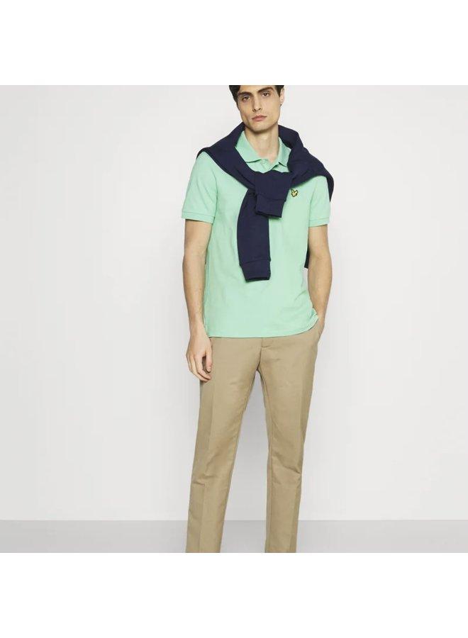 Plain polo shirt sea mint