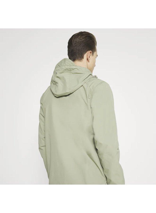 Zip through hooded jacket - moss