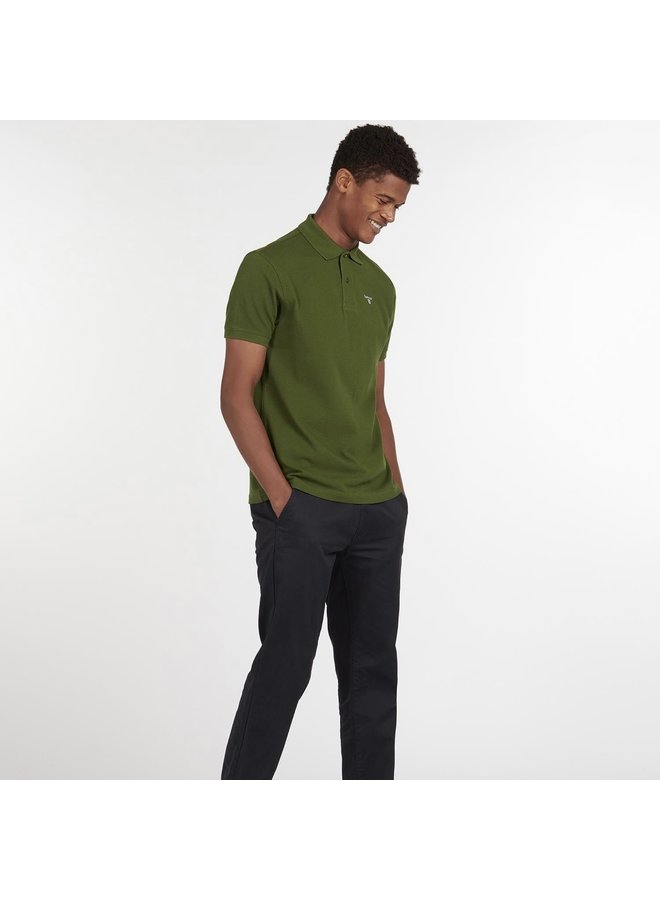 Barbour sports polo rifle green