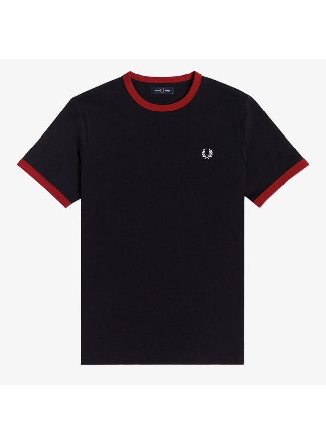 Ringer t-shirt- navy/blood