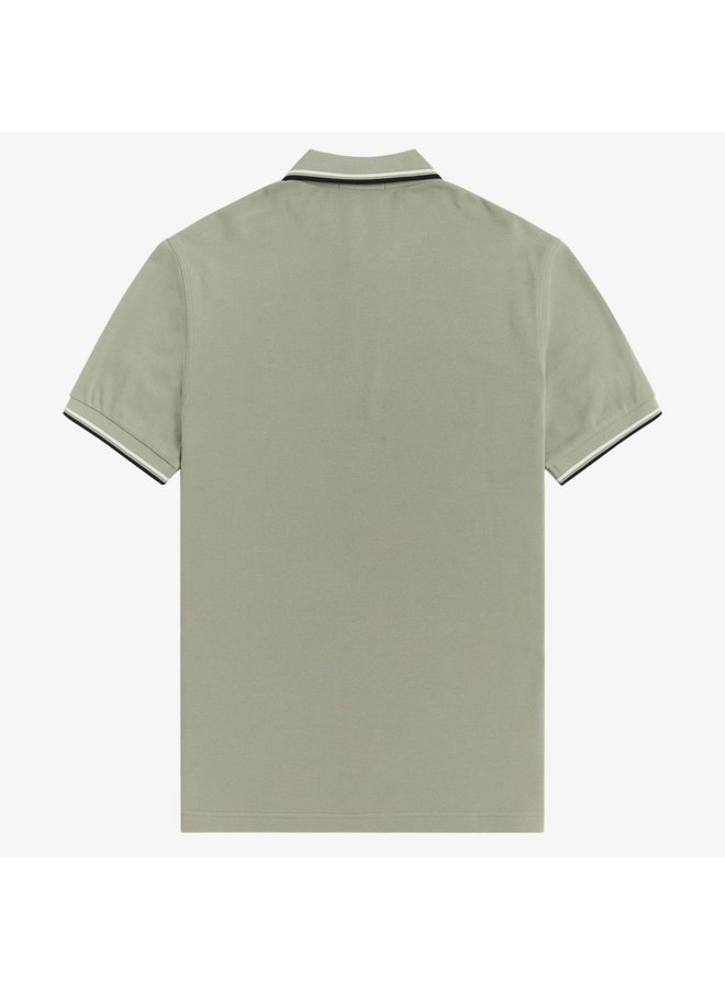 Twin tipped fred perry shirt - seagrass