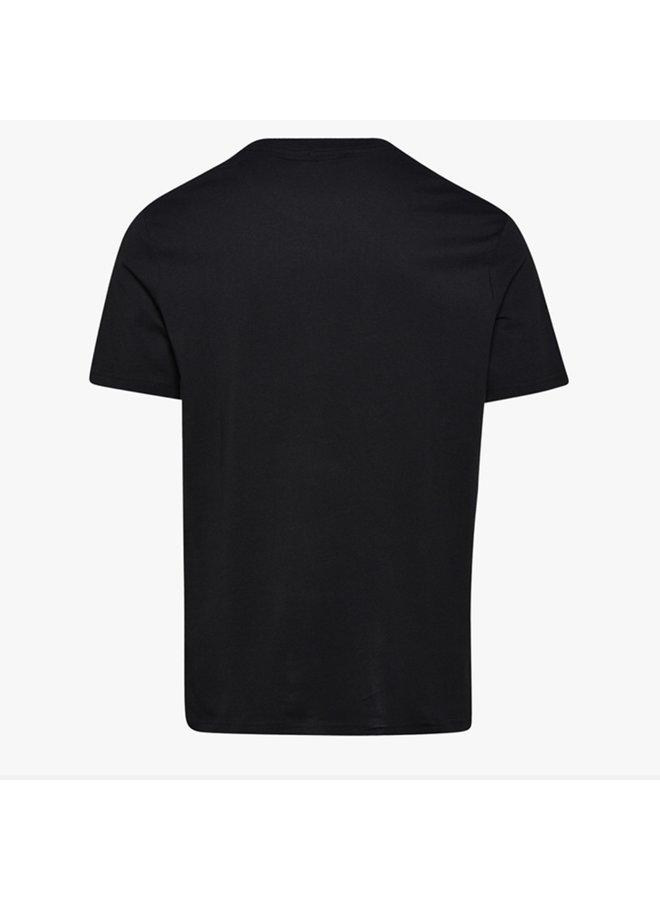 ss t-shirt spectra - black/white/orangead