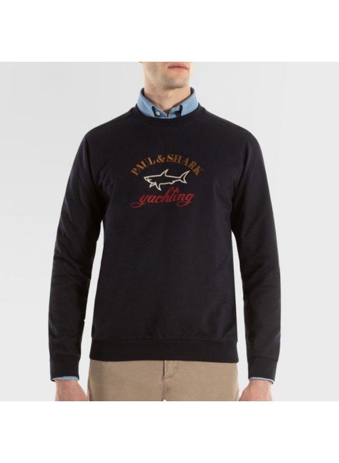 Organic cotton sweatshirt - navy