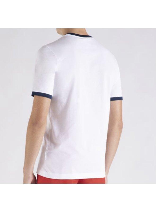 Organic cotton t-shirt printed logo - white