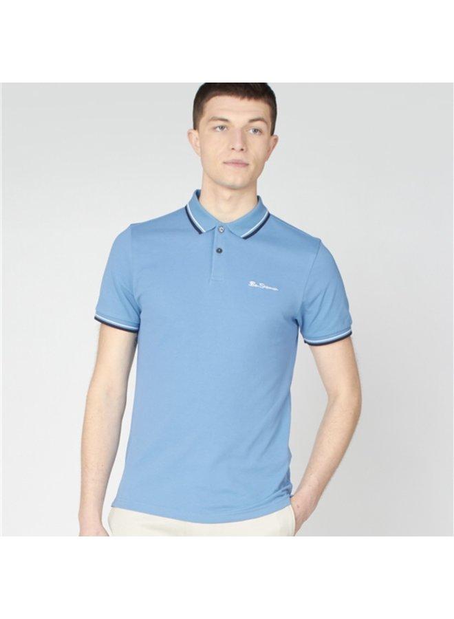 Organic cotton signature polo - riviera blue