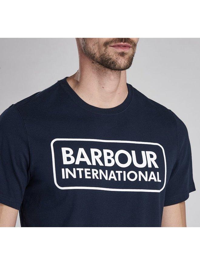 B.intl essential large logo tee - navy
