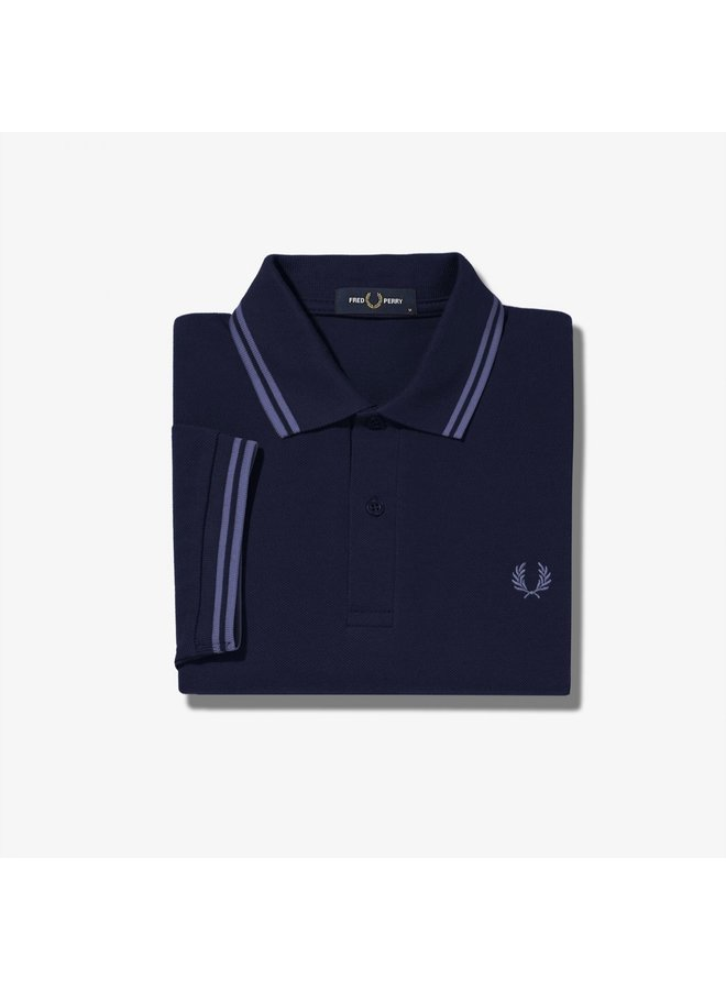 Twin tipped Fred Perry shirt / french navy