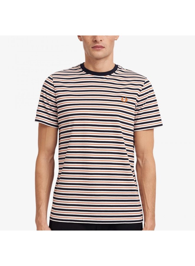 Fine stripe t-shirt / snow white