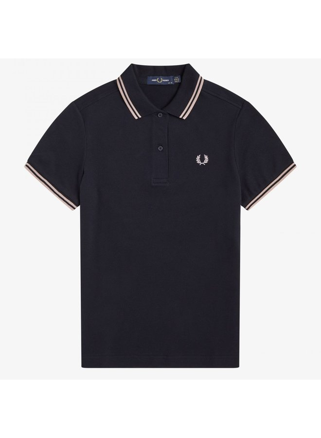 Twin tipped Fred Perry shirt woman - navy