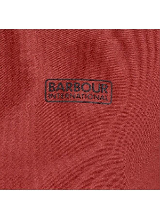 B.intl international small logo tee - root red