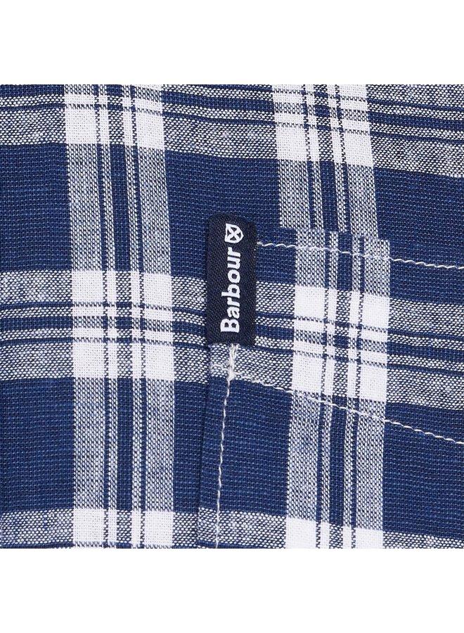 Barbour linen mix 8 tailored - indigo