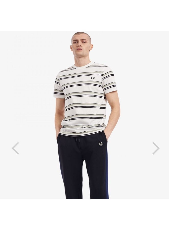 Striped t-shirt - snow white