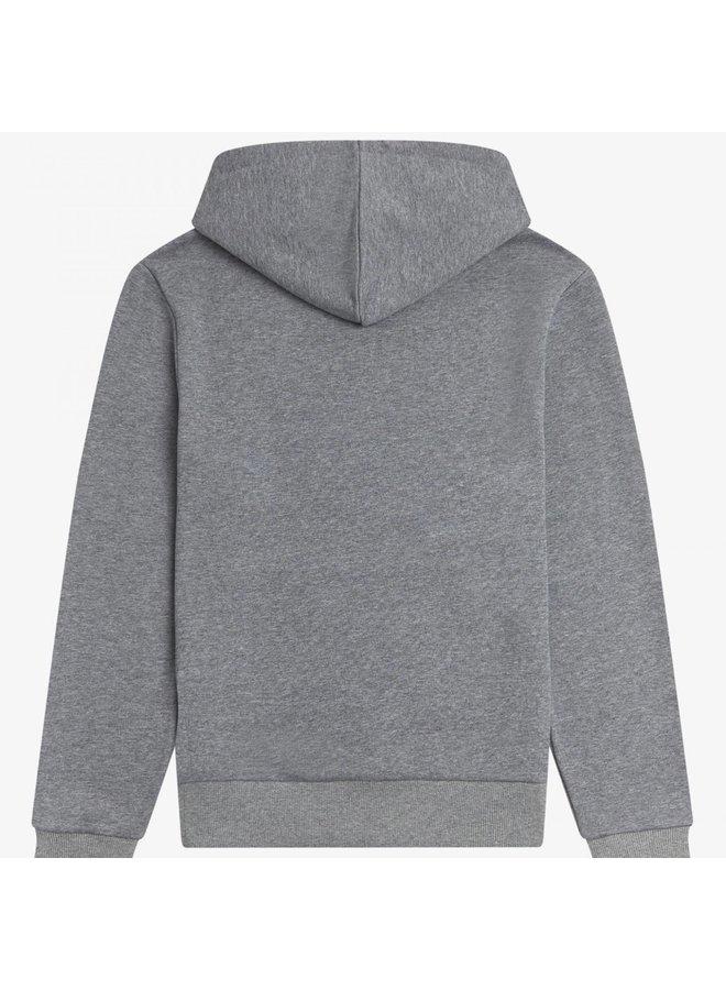 Tipped hooded sweatshirt - steel marl
