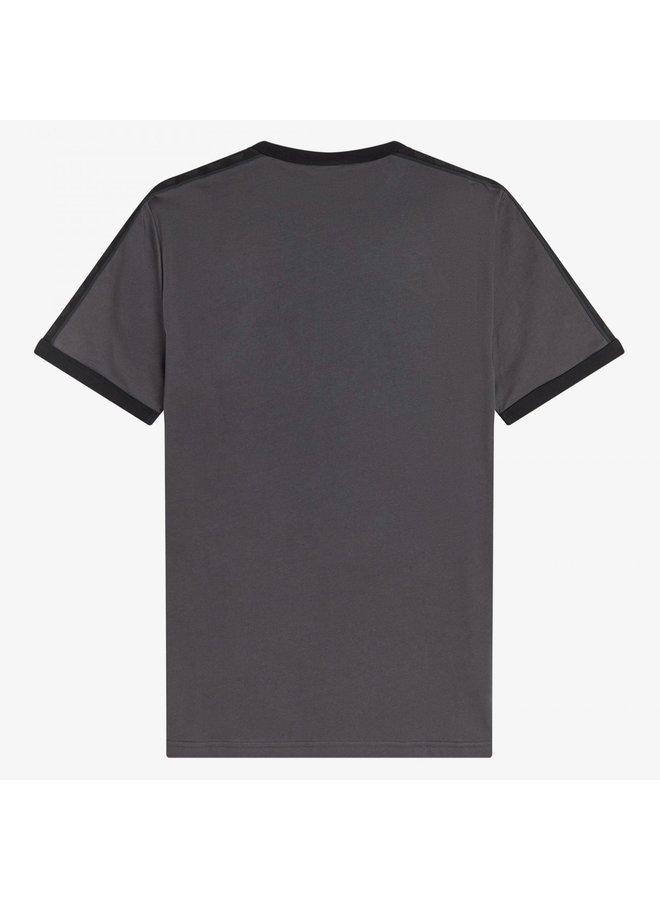 Tonal taped ringer t-shirt - gunmetal