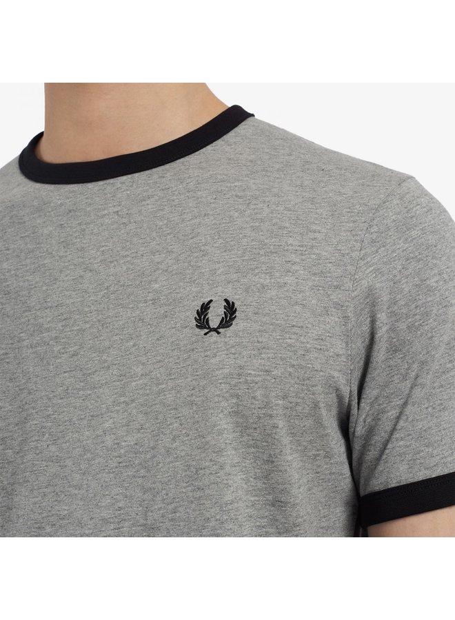 Ringer t-shirt - steel marl/black