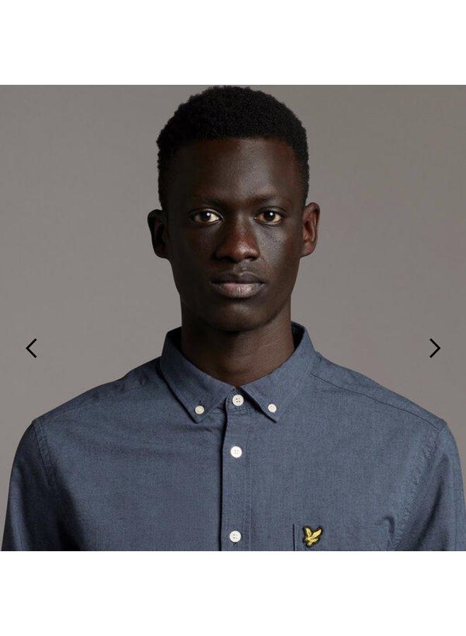 Regular fit weight oxford shirt - slate blue/dark navy