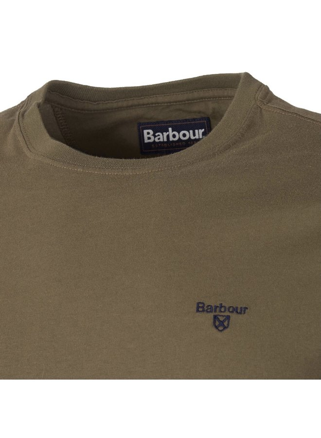 Barbour sports tee - mid olive