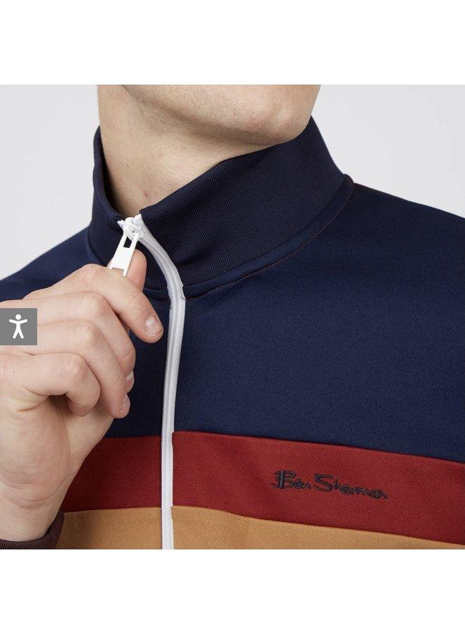 Block track jacket - bordeaux