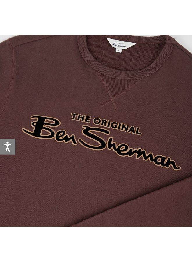 Signature logo sweatshirt - bordeaux