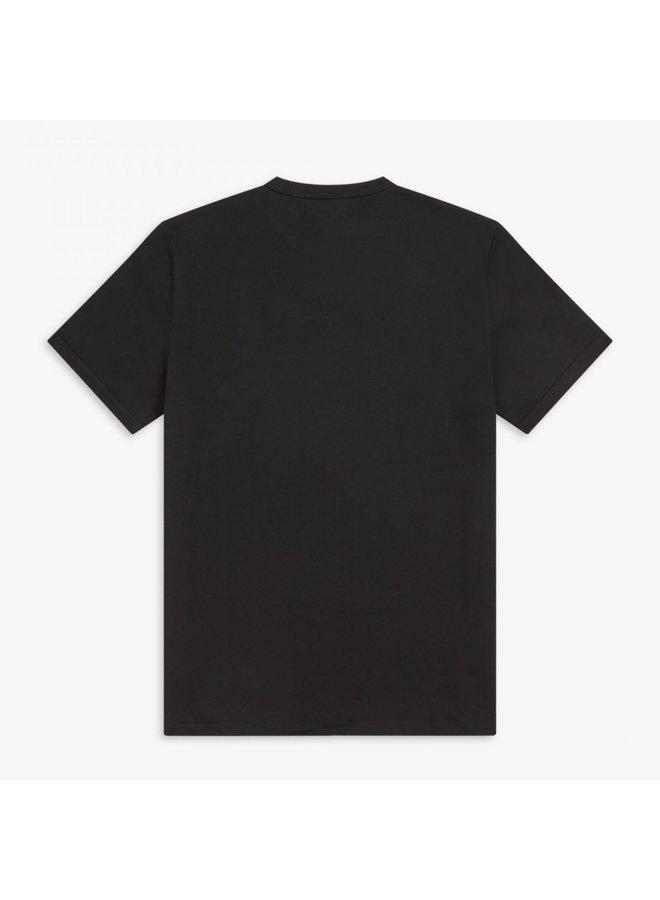 Ringer t-shirt - black