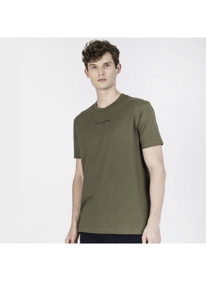 Organic cotton t-shirt with printed Paul & shark - khaki