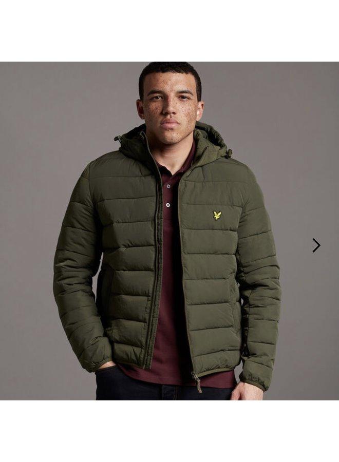 Lightweight puffer jacket - olive