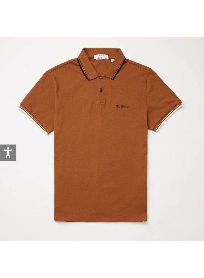 Signature polo shirt - burt orange