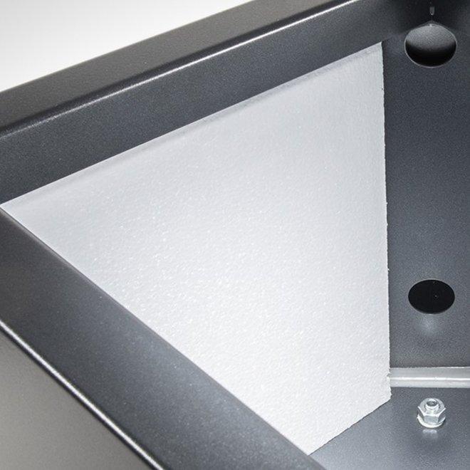 Pflanzkübel ''Metallico Enzo Cube'' Anthrazit Quadratisch Chromstahl