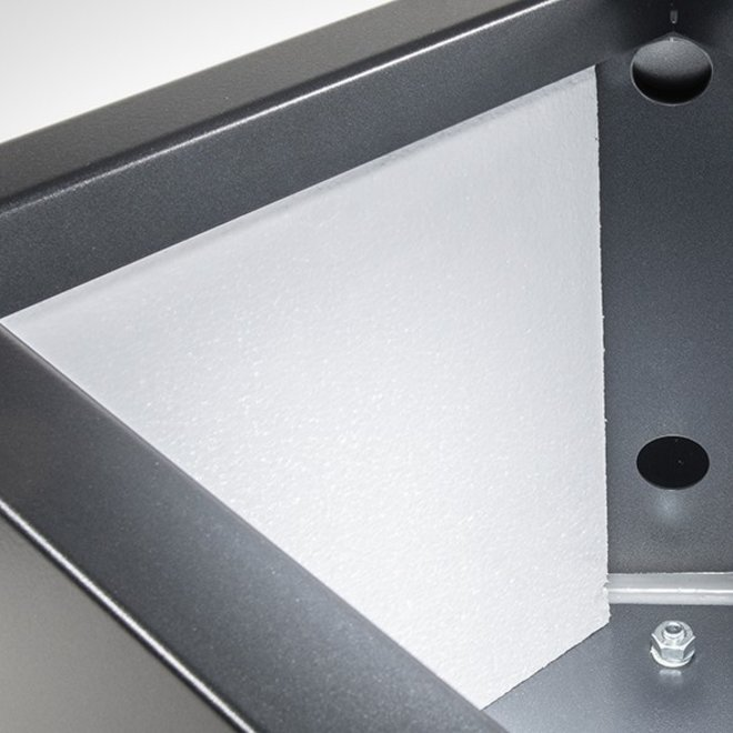 "Pflanzkübel ""Metallico Leon"" Low Cube Espresso Quadratisch Chromstahl"