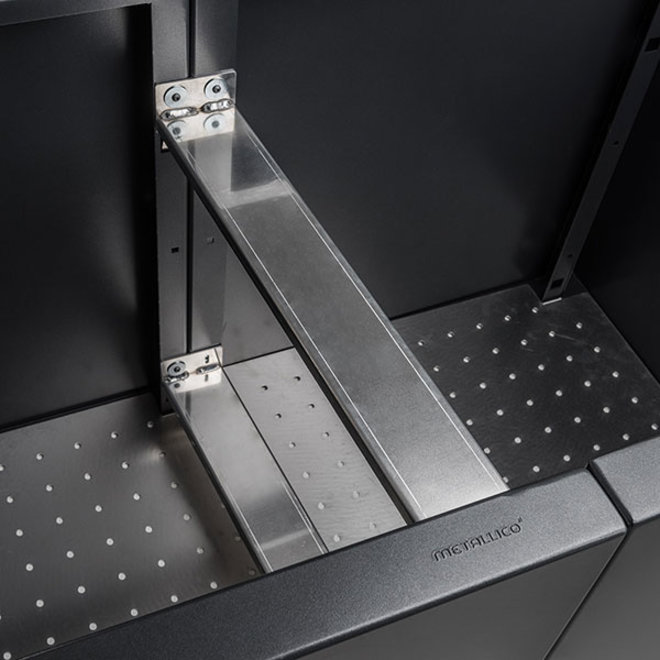 Pflanzkübel ''Metallico Hochbeet Erweiterungspaket'' Guarani Chromstahl - 74x80cm - F1078-GUA