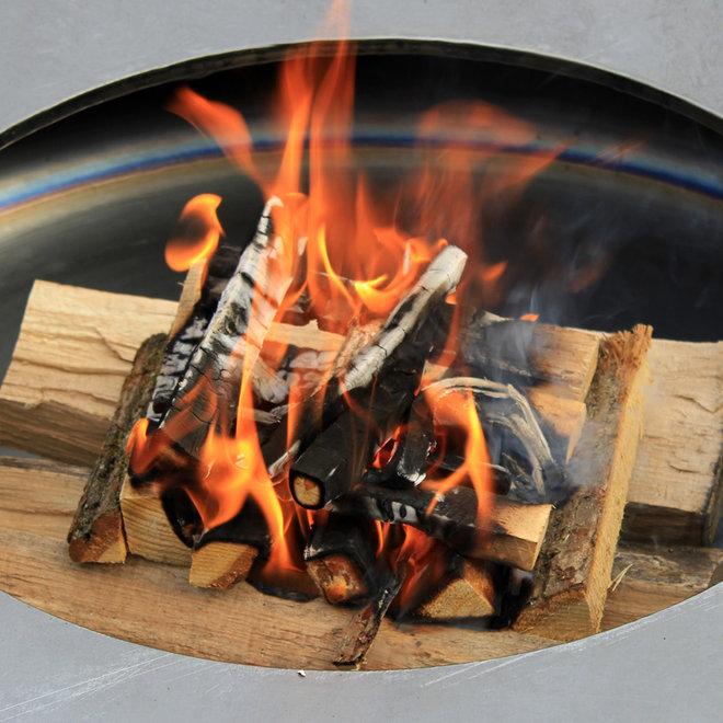 "Feuer-/Grillschale ""Metallico Fuego"" Anthrazit Rund Aluminium - 90x90x48cm - F1161"