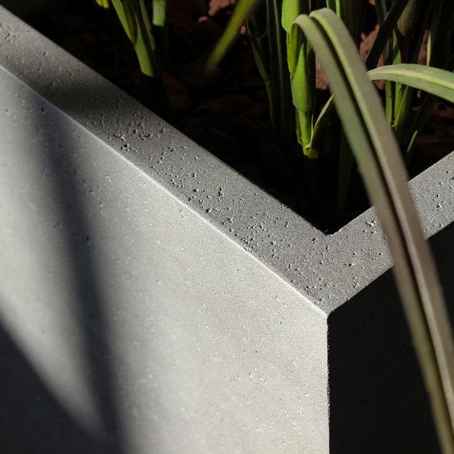 Pflanzkasten ''Grigio Small Box'' Grau Rechteckig Fiberglas