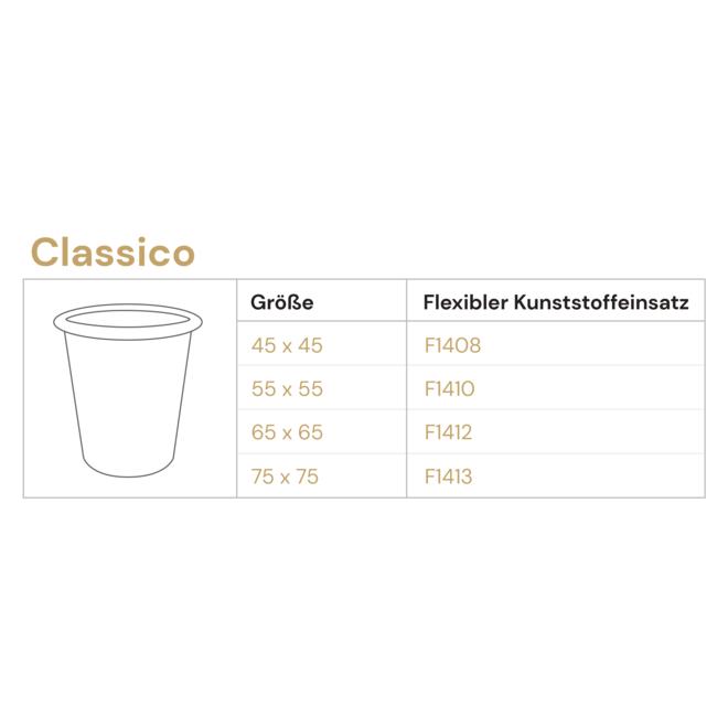 Pflanzkübel ''Grigio Classico'' Creme Weiß Rund Fiberglas