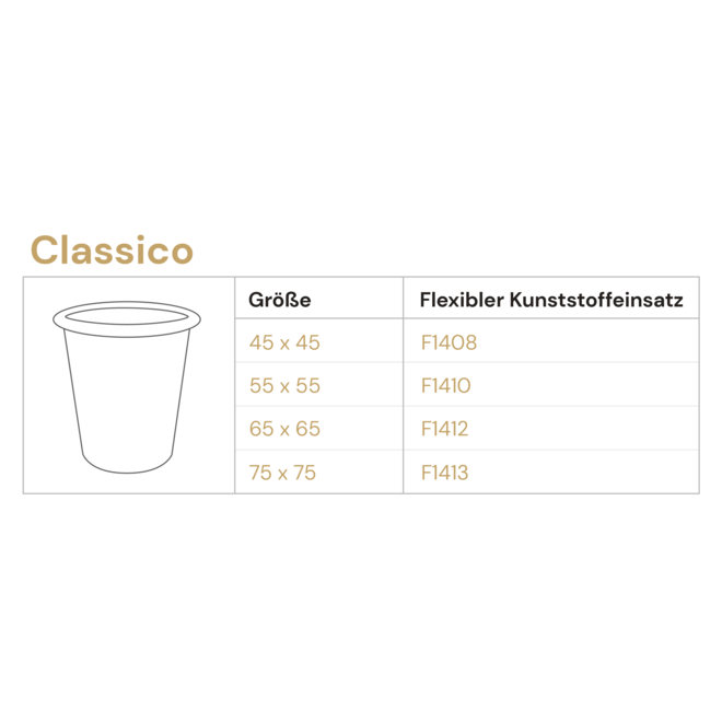 Pflanzkübel ''Grigio Classico'' Grau Rund Fiberglas