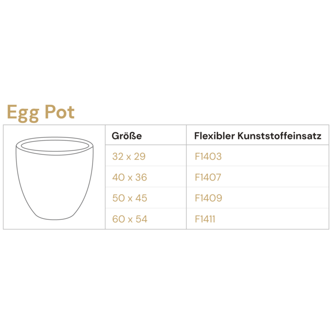 Pflanzkübel ''Grigio Egg Pot'' Anthrazit Rund Fiberglas