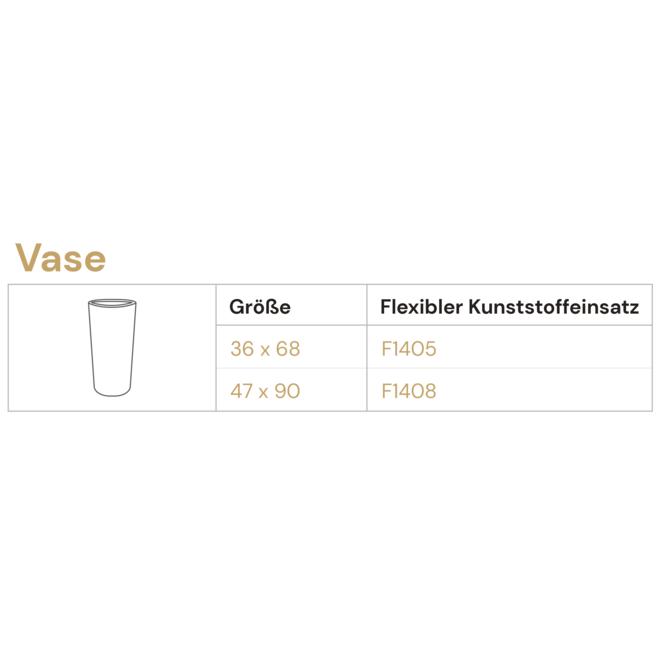 """Pflanzkübel """"Argento Vase"""" Schwarz Rund Fiberglas"""