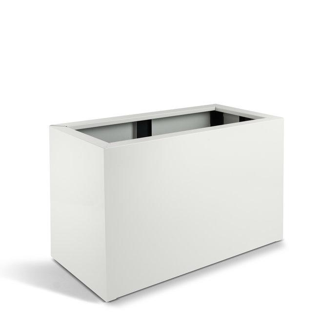 """Pflanzkasten """"Piegato High Box"""" Weiß Metall"""