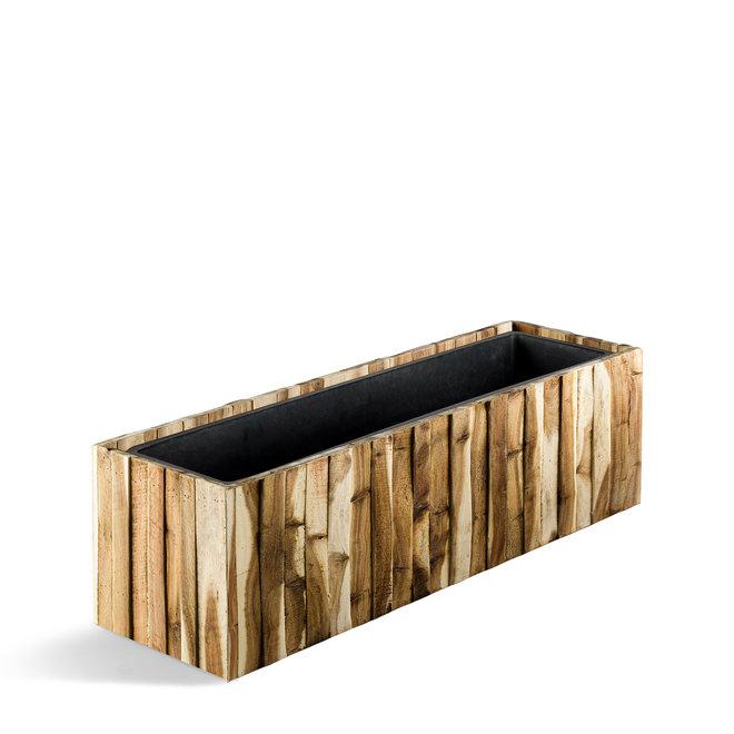 """Pflanzkübel """"Marrone Acacia Small Box"""" Acacia Rechteckig Holz"""