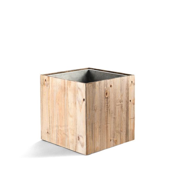 "Pflanzkübel ""Marrone Cube"" Dark Flame Wood Quadratisch Holz"