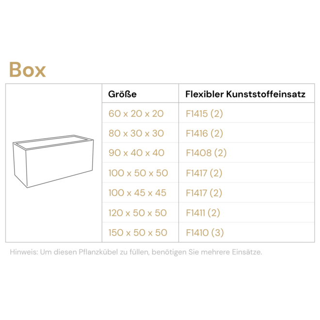 Pflanzkübel ''Struttura Box'' Dunkelbraun Rechteckig Fiberglas