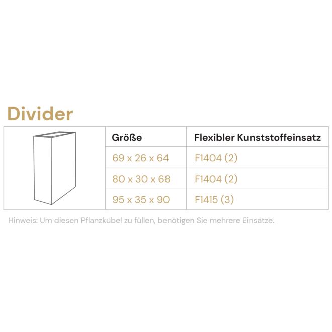 Raumteiler ''Grigio Divider'' Grau Rechteckig Fiberglas
