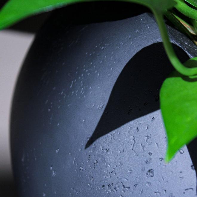 Pflanzkübel ''Grigio Balloon'' Anthrazit Rund Fiberglas